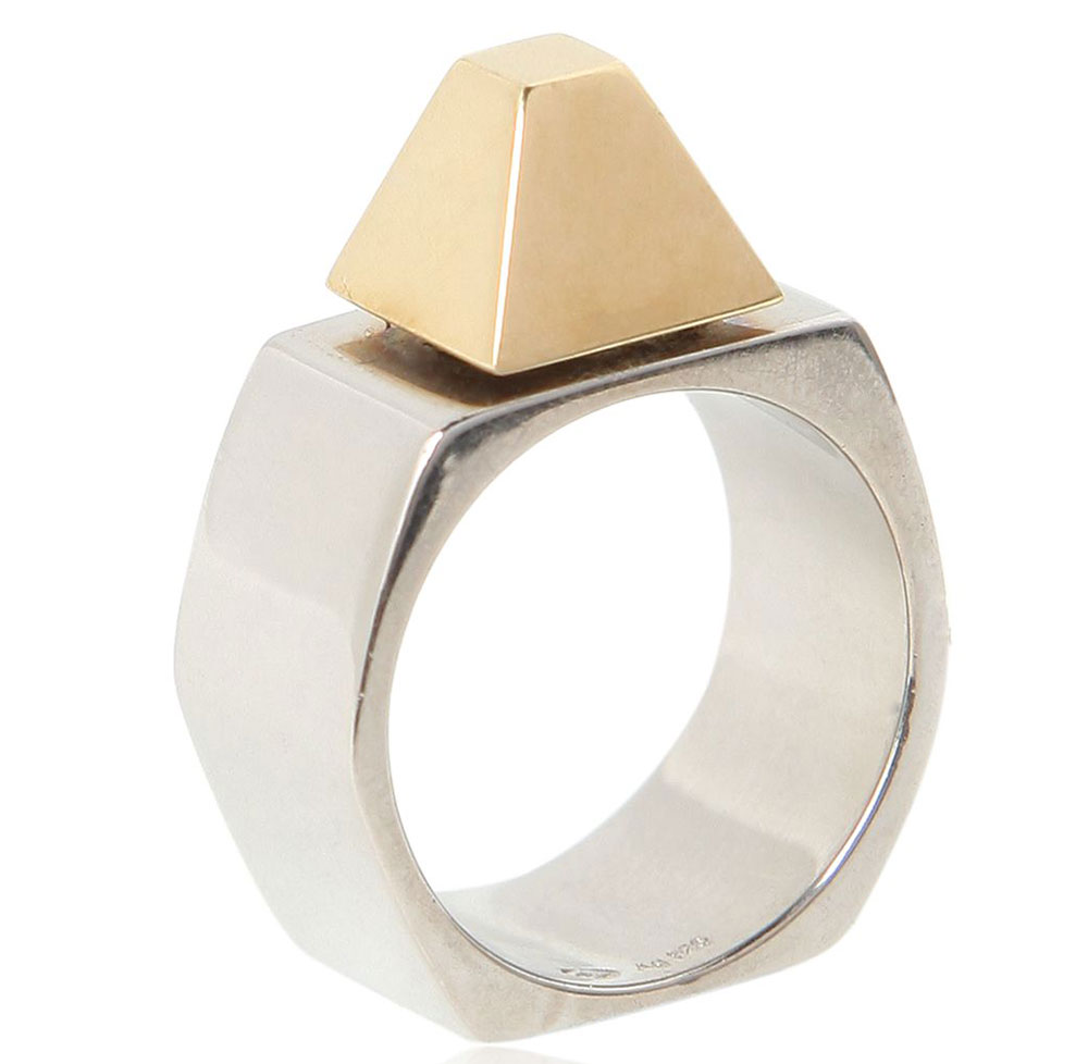 Saint-Laurent-Gold-Plated-Stud-Ring