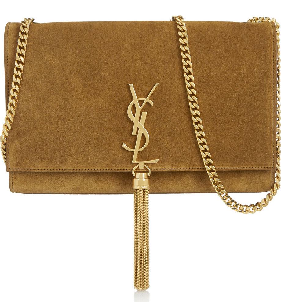 Saint-Laurent-Monogramme-Medium-Suede-Shoulder-Bag