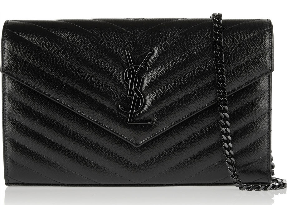 Saint-Laurent-Monogramme-Wallet-on-a-Chain