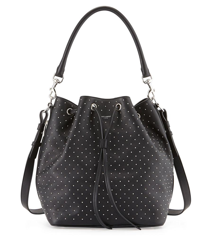 Saint-Laurent-Studded-Bucket-Bag