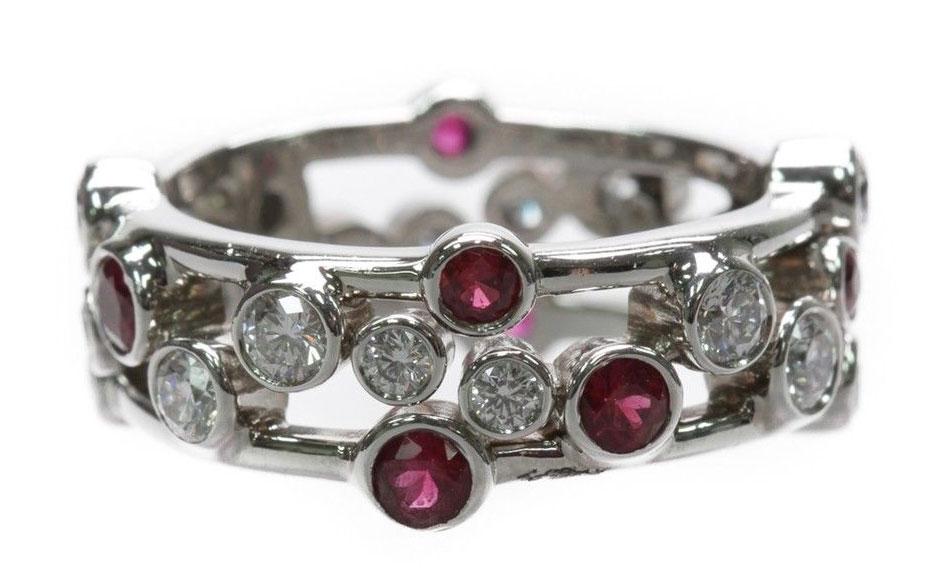 Tiffany-Platinum-Diamond-and-Ruby-Bubbles-Ring