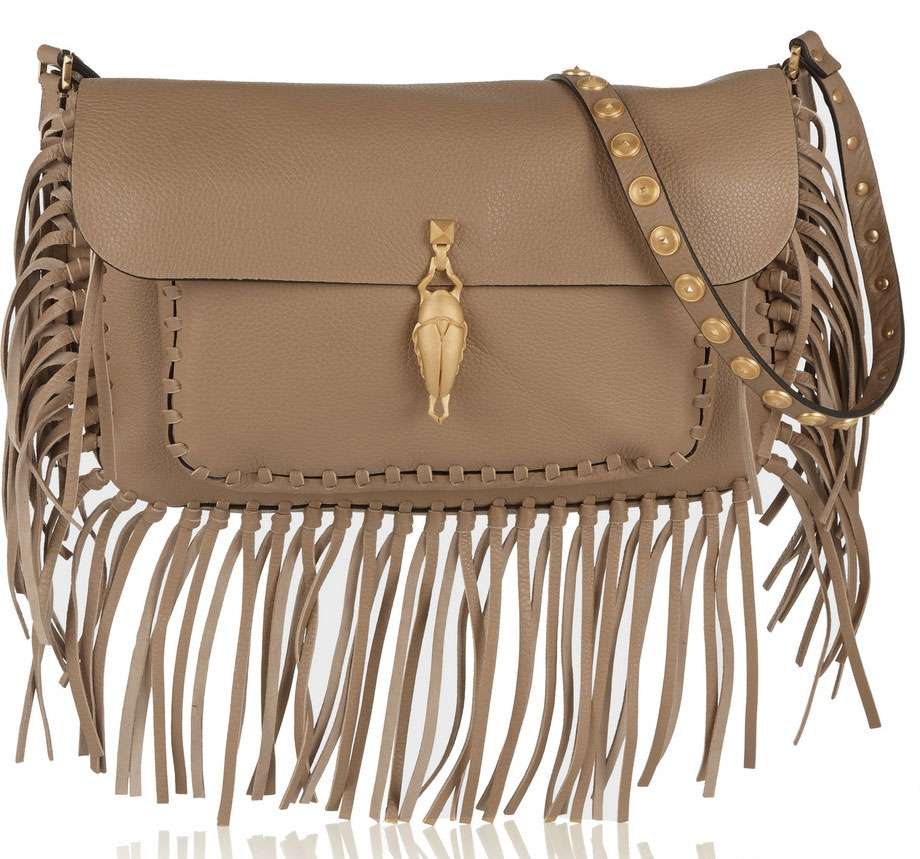 Valentino-Gryphon-Fringe-Shoulder-Bag