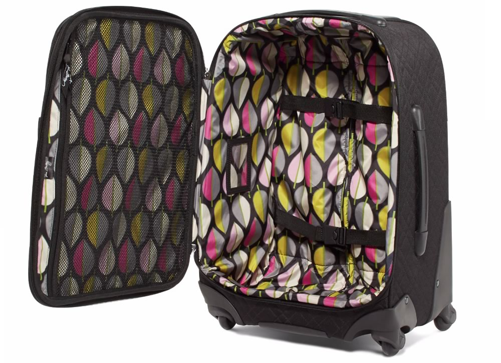 Vera Bradley 22 Spinner Rolling Luggage in Classic Black