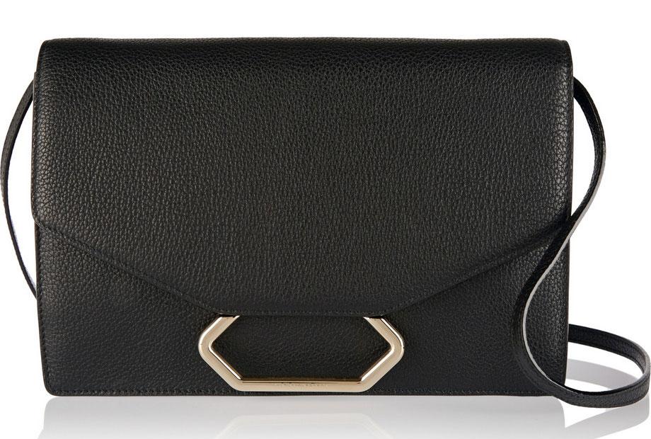 Victoria-Beckham-Money-Clutch-Shoulder-Bag-Black