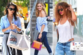 Celebs Opt for Unusual Handbag Selections from Analeena, Figue & More