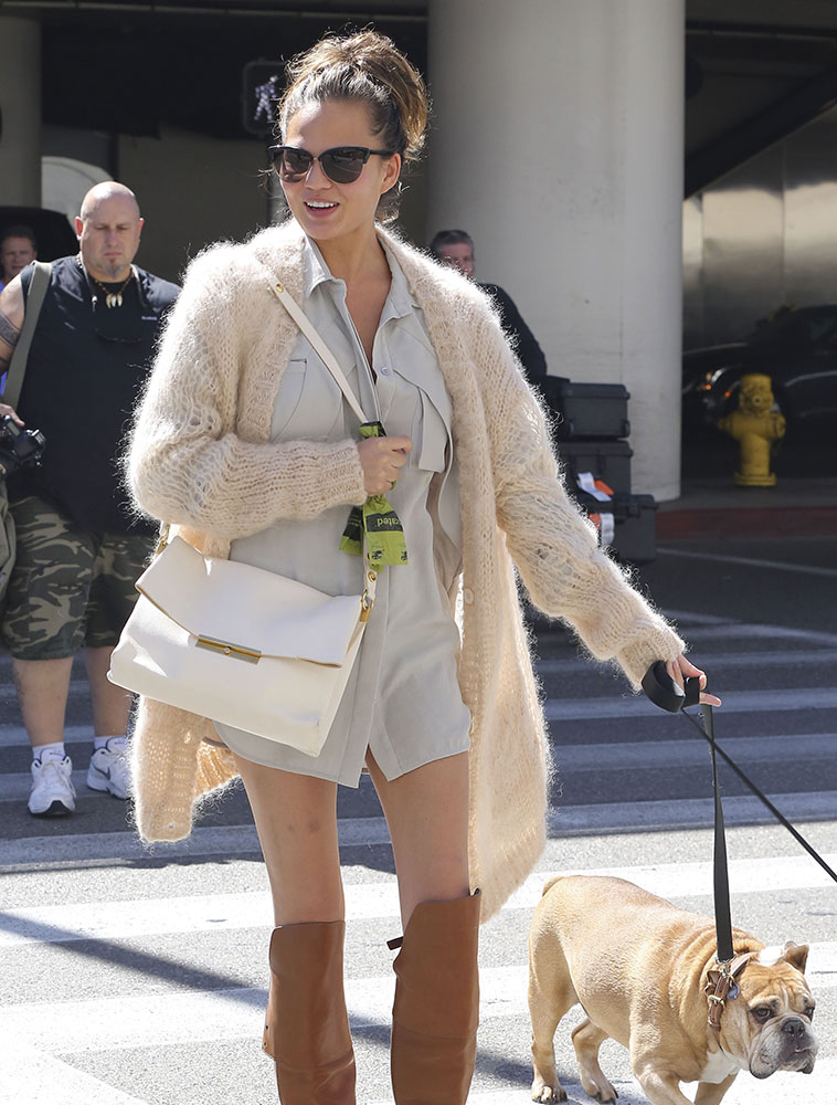 Chrissy-Teigen-Celine-Blade-Flap-Bag