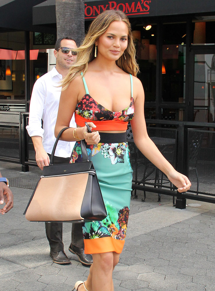 Chrissy-Teigen-Celine-Edge-Bag