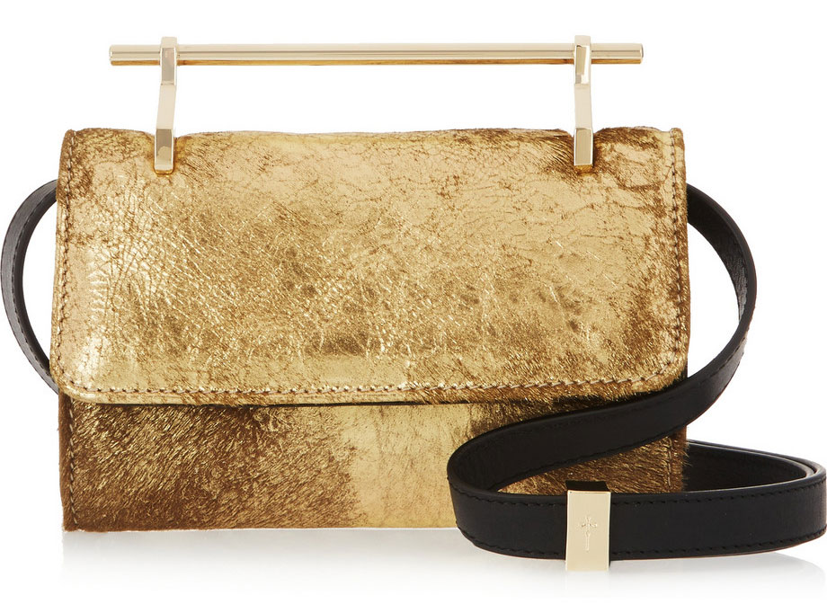 M2Malletier-Fabricca-Metallic-Calf-Hair-Clutch