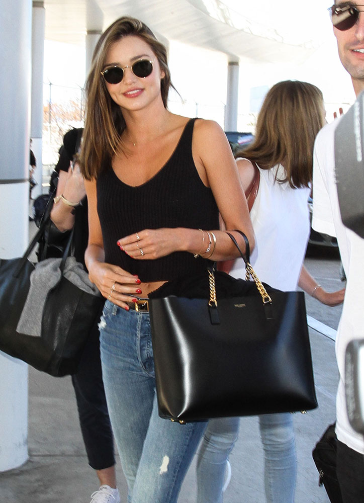 Miranda-Kerr-Saint-Laurent-Leather-Tote