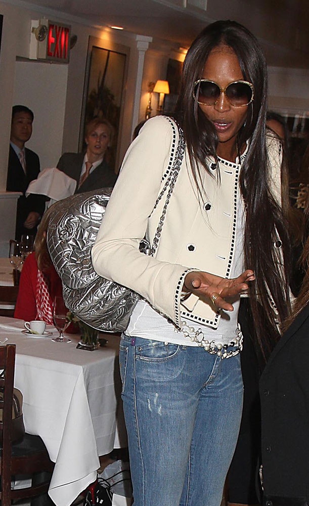 Naomi-Campbell-Chanel-Quilted-Camellia-Metallic-Shoulder-Bag