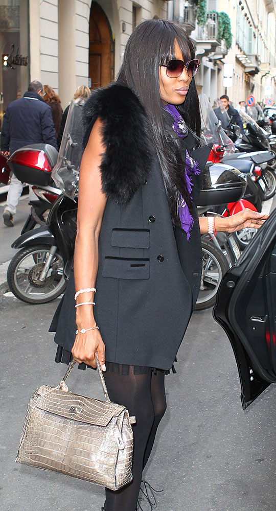 Naomi-Campbell-Hermes-Crocodile-Kelly-Bag