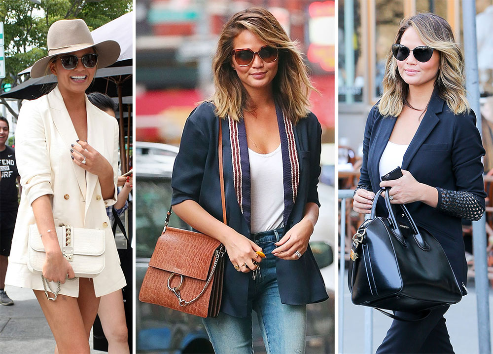 6d2fd63de749 The Many Bags of Chrissy Teigen - PurseBlog