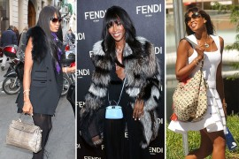 The Many Bags of Naomi Campbell