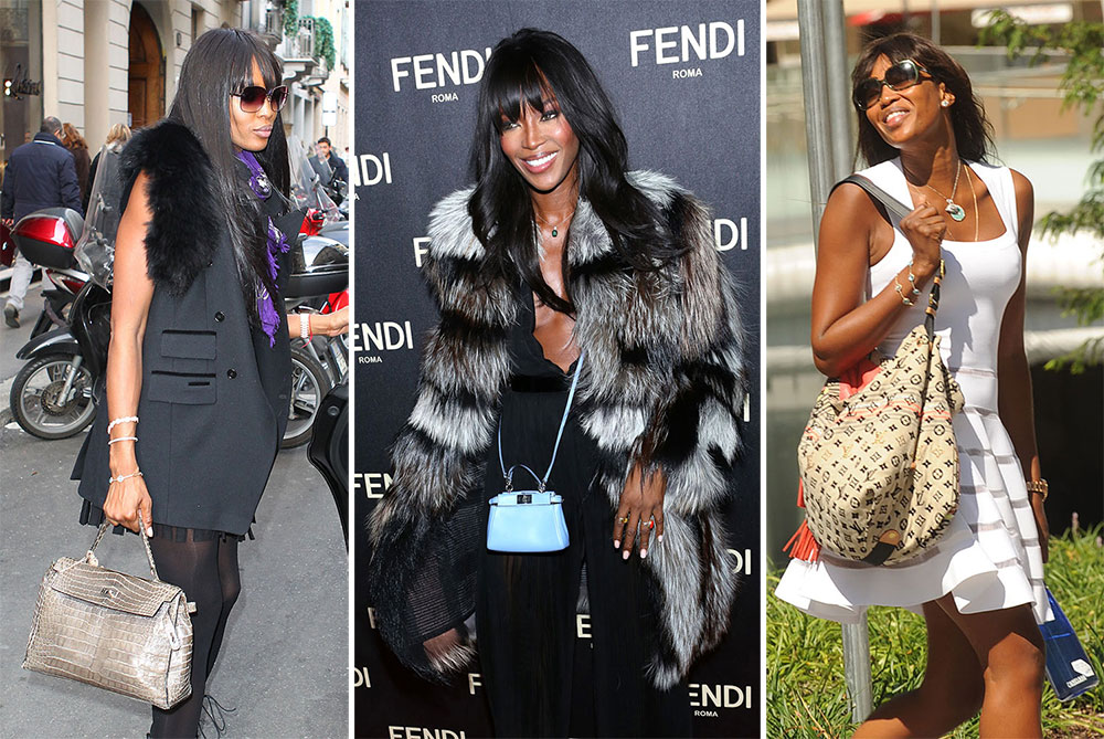 a7ce1f60eafe The Many Bags of Naomi Campbell - PurseBlog