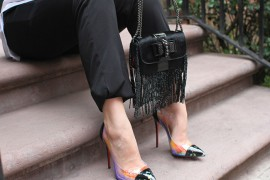 What Fits: Christian Louboutin Sweet Charity Fringes Mini Crossbody Bag