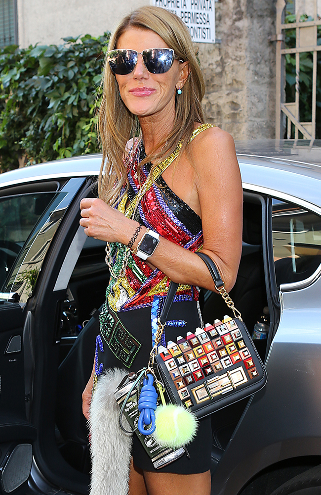 Anna-Dello-Russo-Fendi-3Baguette-Studded-Bag-3