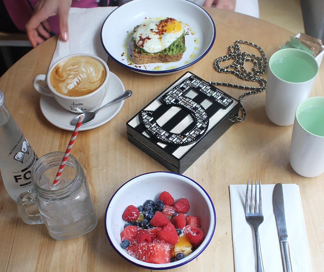 Chanel Clutch Breakfast