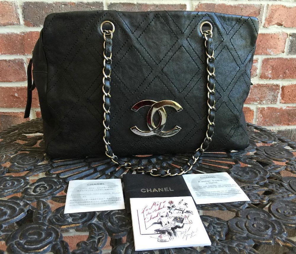 Chanel-Distressed-Leather-Shopper-Tote