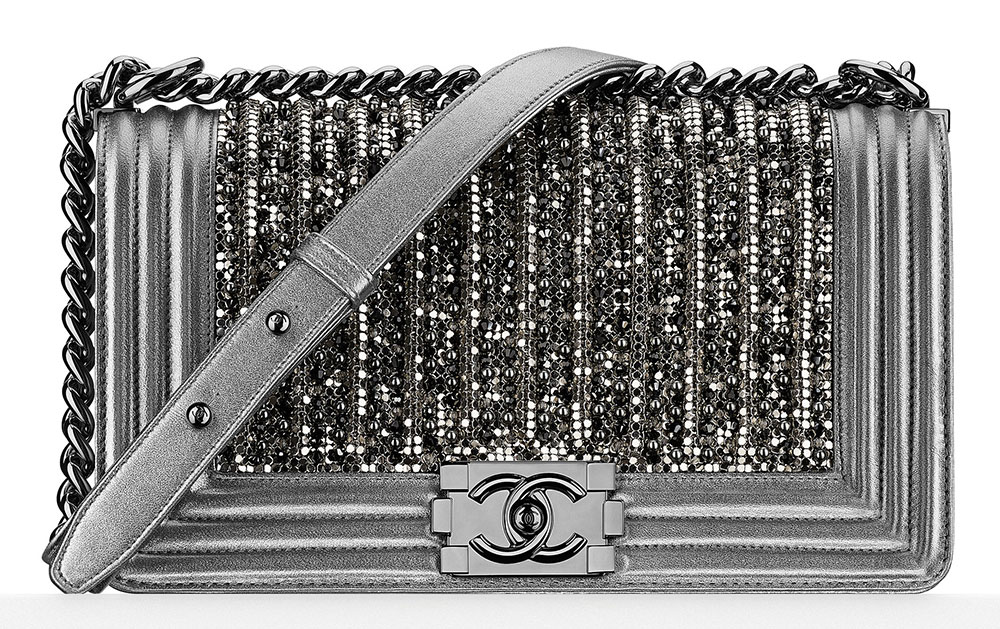 bde60ea0735d Chanel Embroidered Glass and Pearl Boy Bag