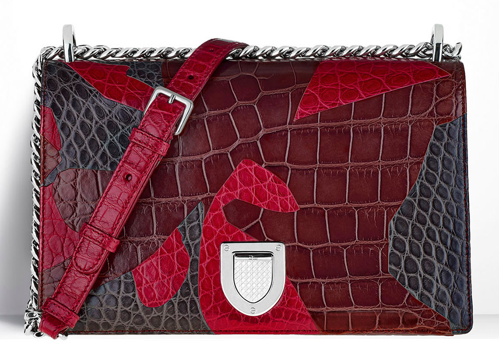 Christian-Dior-Diorama-Bag-Patchwork-Crocodile-Red