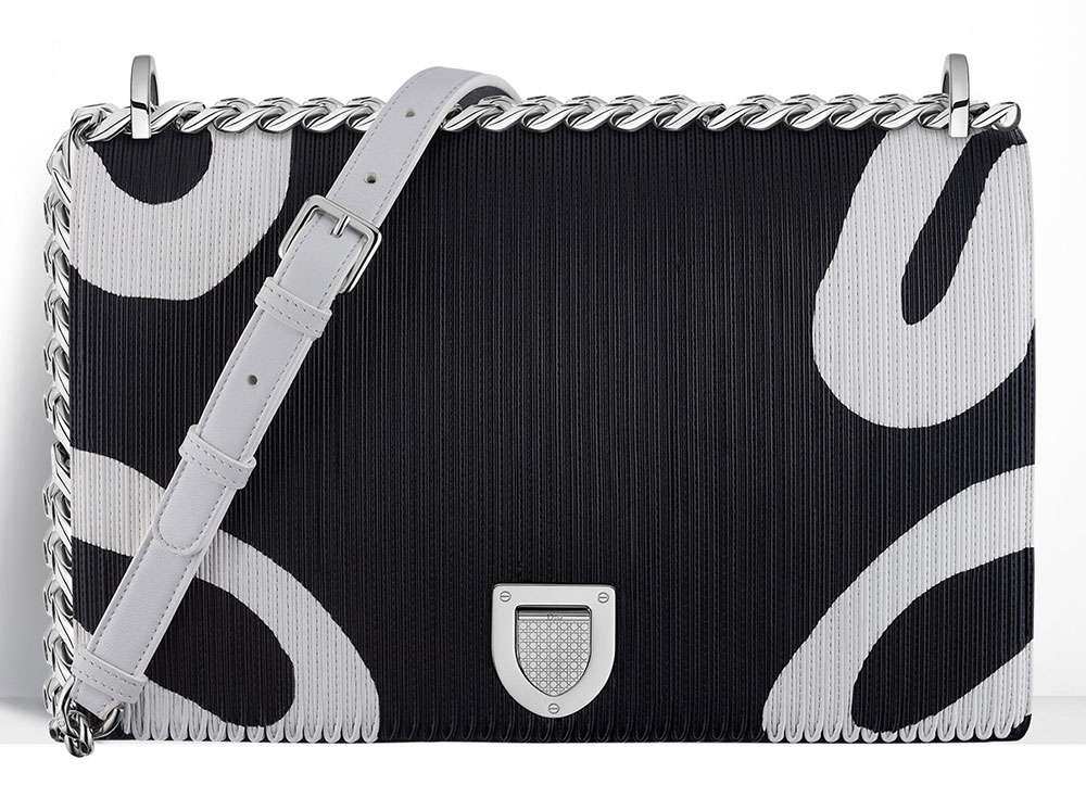 Christian-Dior-Diorama-Bag-Printed-Patchwork-Leather-Black