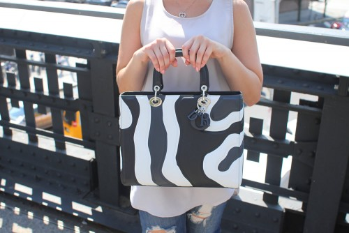 Dior Stripe Tote Bag