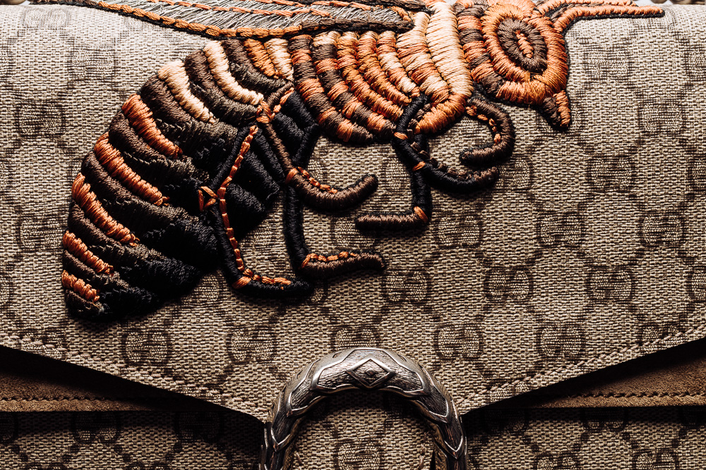 Gucci Dionysus GG Supreme Bee Embroidered Bag
