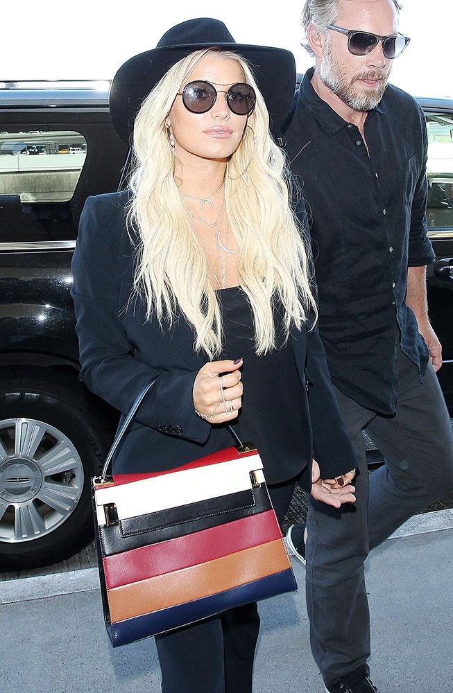 Jessica-Simpson-Valentino-My-Rockstud-Striped-Bag