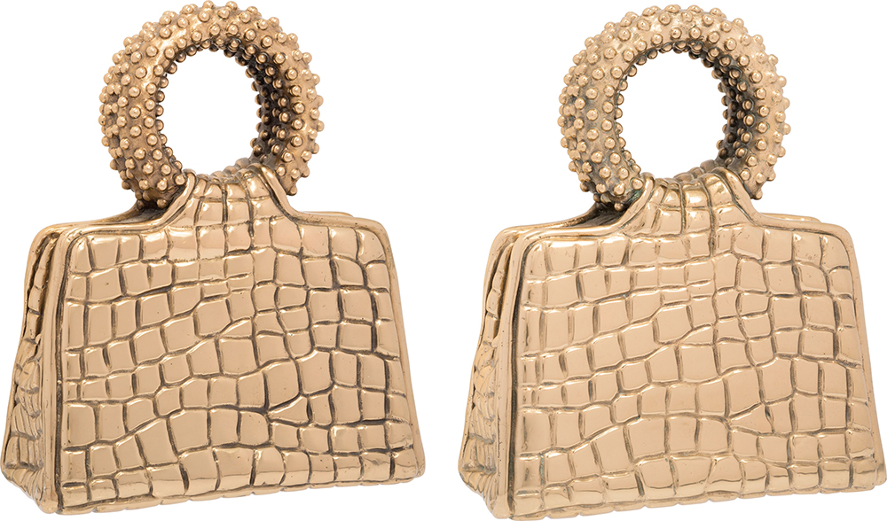 Judith-Leiber-Set-of-Two-Bronze-Handbag-Door-Handles