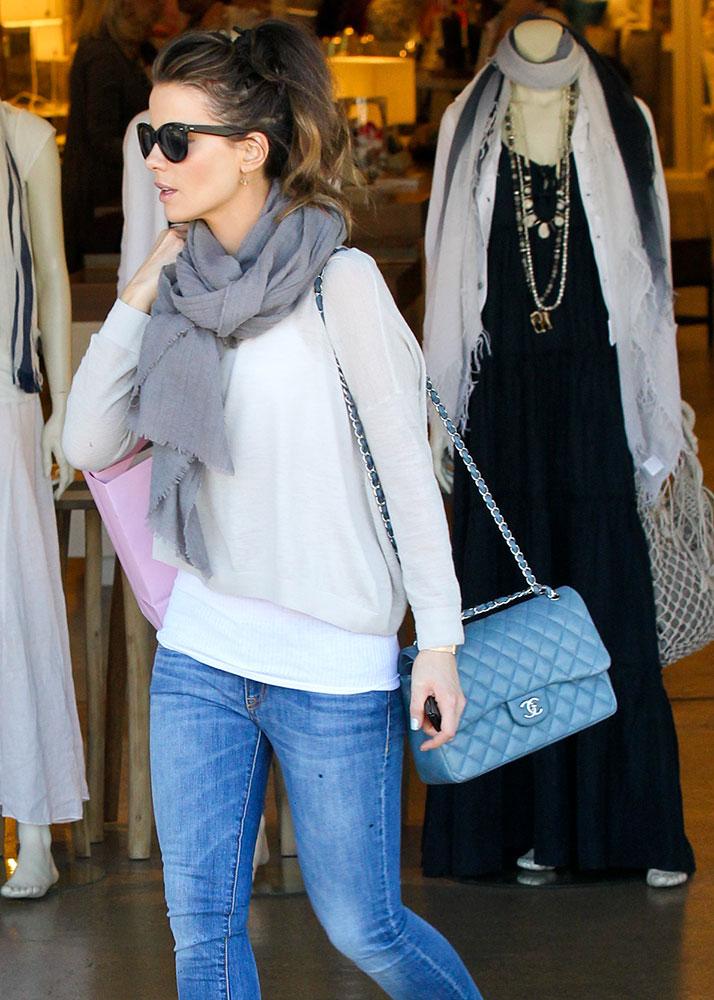 328f9e4dbef910 Kate-Beckinsale-Chanel-Classic-Flap-Bag-Light-Blue - PurseBlog