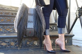 Christian Louboutin Nails It With the Lucky L Hobo