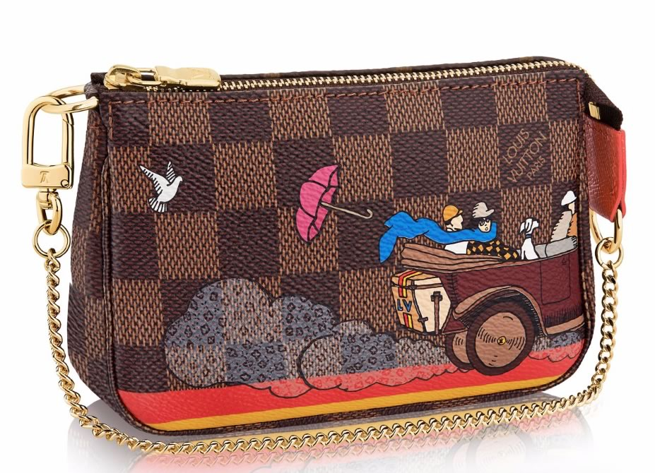 Louis Vuitton Mini Pochette Accessoires Evasion in Damier Ebene