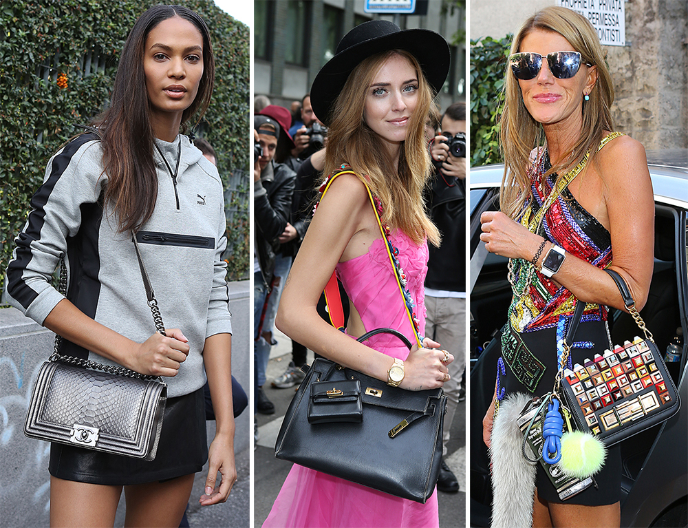 74e2f1bc5a46 49 Bags and the Celebs Who Carried Them to Milan Fashion Week Spring 2016