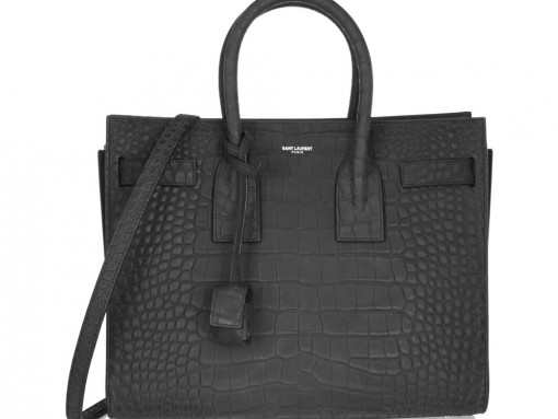 Saint Laurent Sac de Jour Crocodile Embossed Small Tote