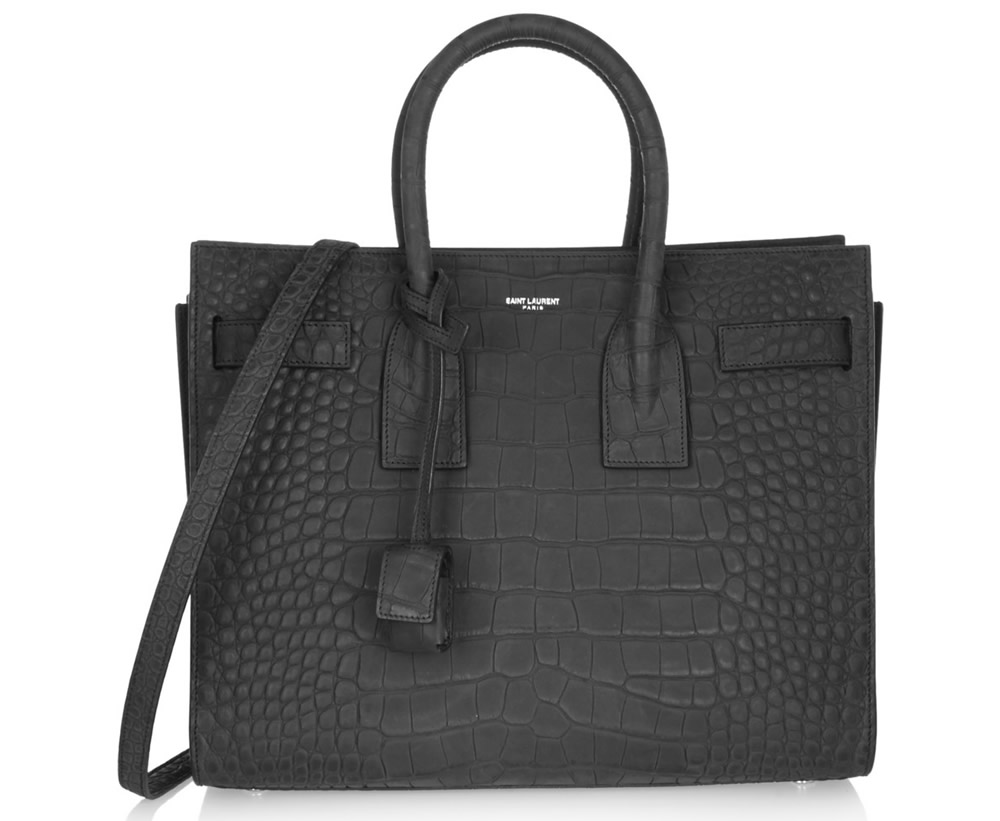 yves saint laurent snake-embossed medium crossbody bag