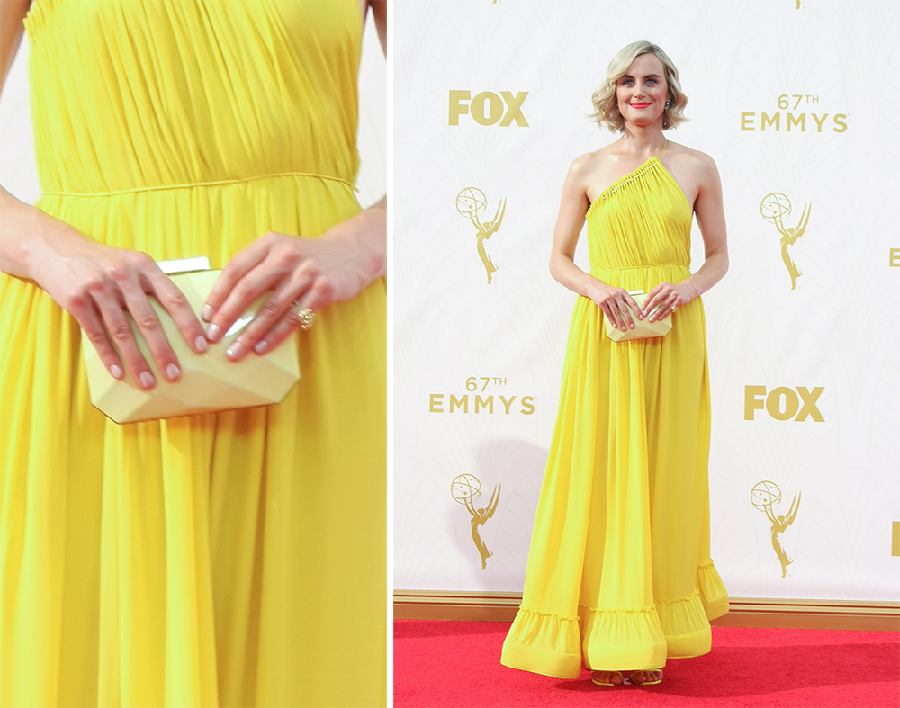 Taylor-Schilling-Stella-McCartney-Faceted-Clutch