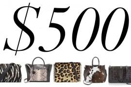 5 Under $500: Animal Print Bags