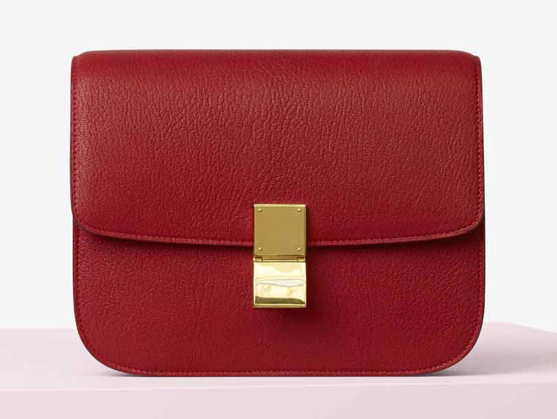 Celine-Classic-Box-Bag-Red