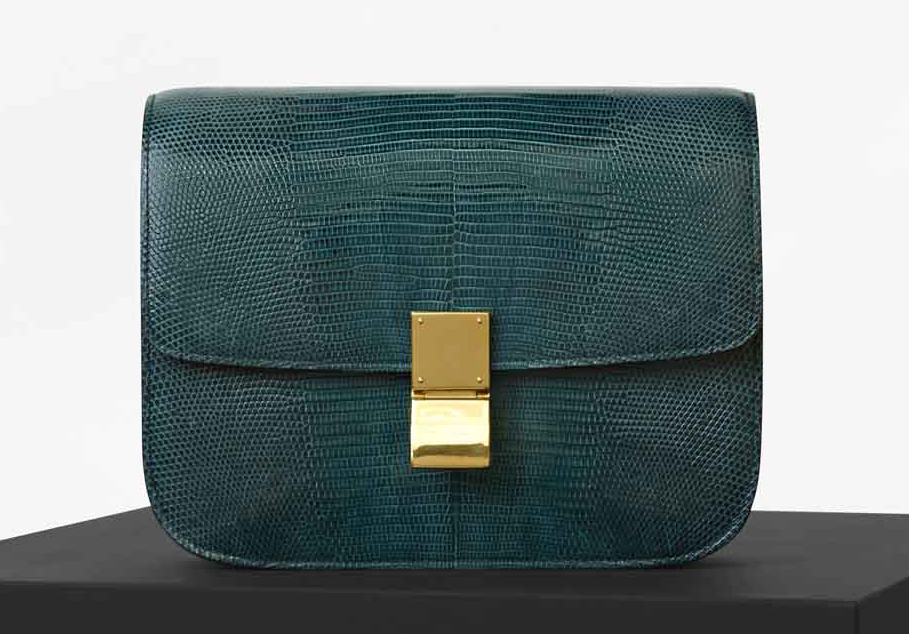 Celine-Classic-Box-Bag-Teal-Lizard
