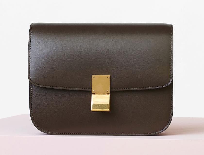 Celine Classic Box Bag Wood 3900