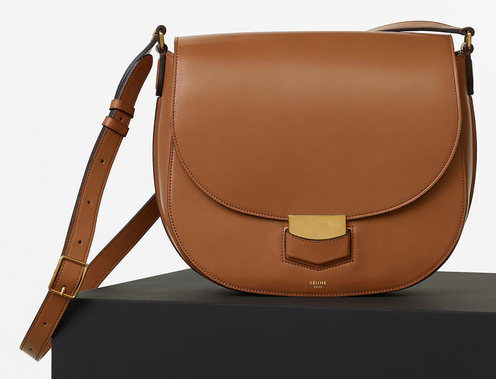 Celine-Medium-Trotteur-Bag-Tan