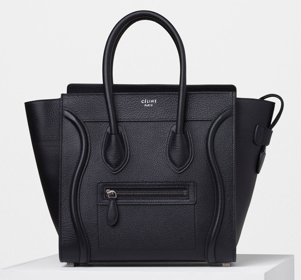 Celine-Micro-Luggage-Tote-Black