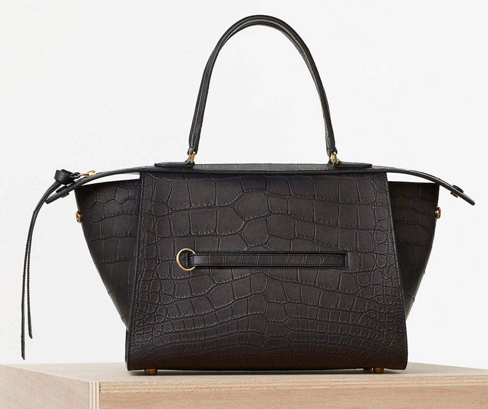 Celine-Small-Black-Crocodile-Ring-Bag
