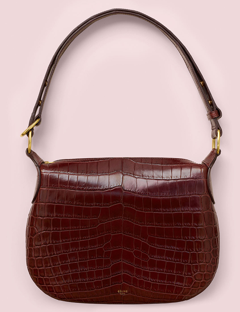 Celine-Small-Crocodile-Saddle-Bag