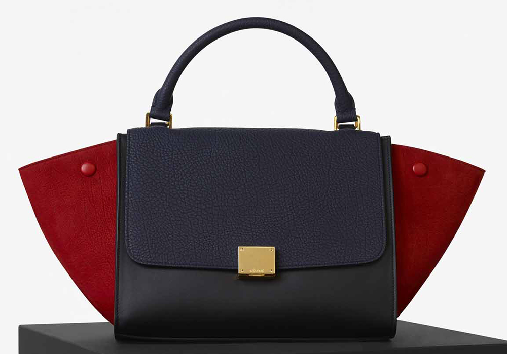 Celine-Small-Trapeze-Bag-Navy-Tricolor