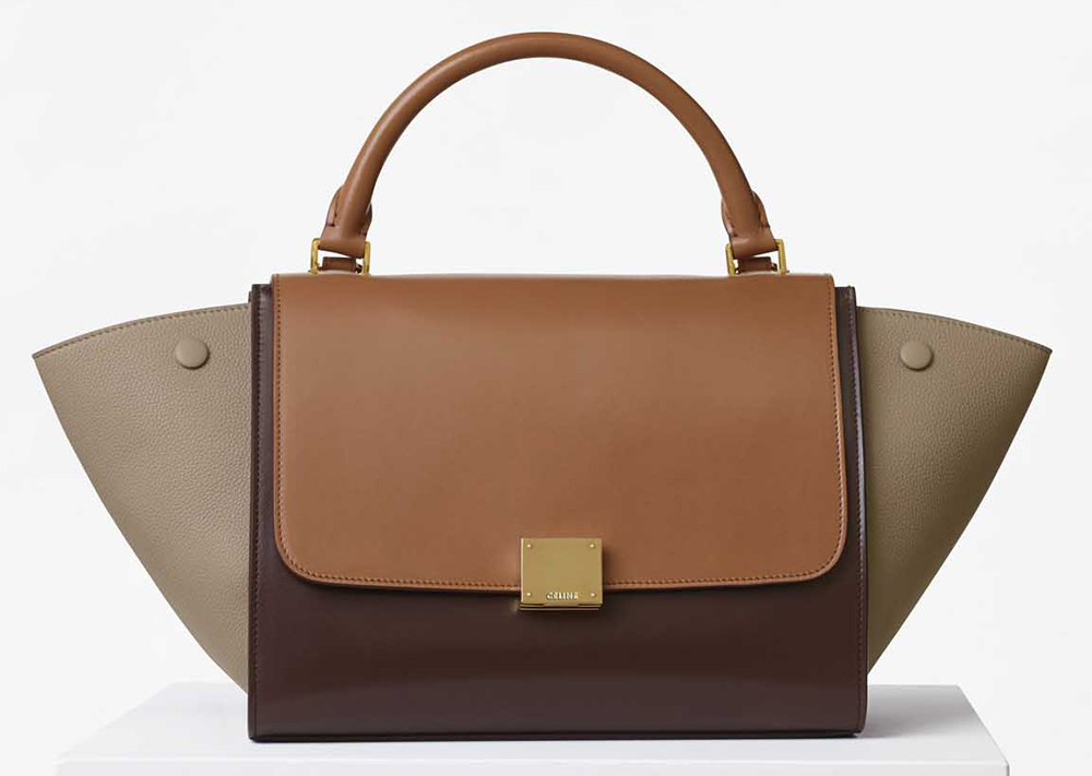 Celine-Small-Trapeze-Bag-Tan-Tricolor
