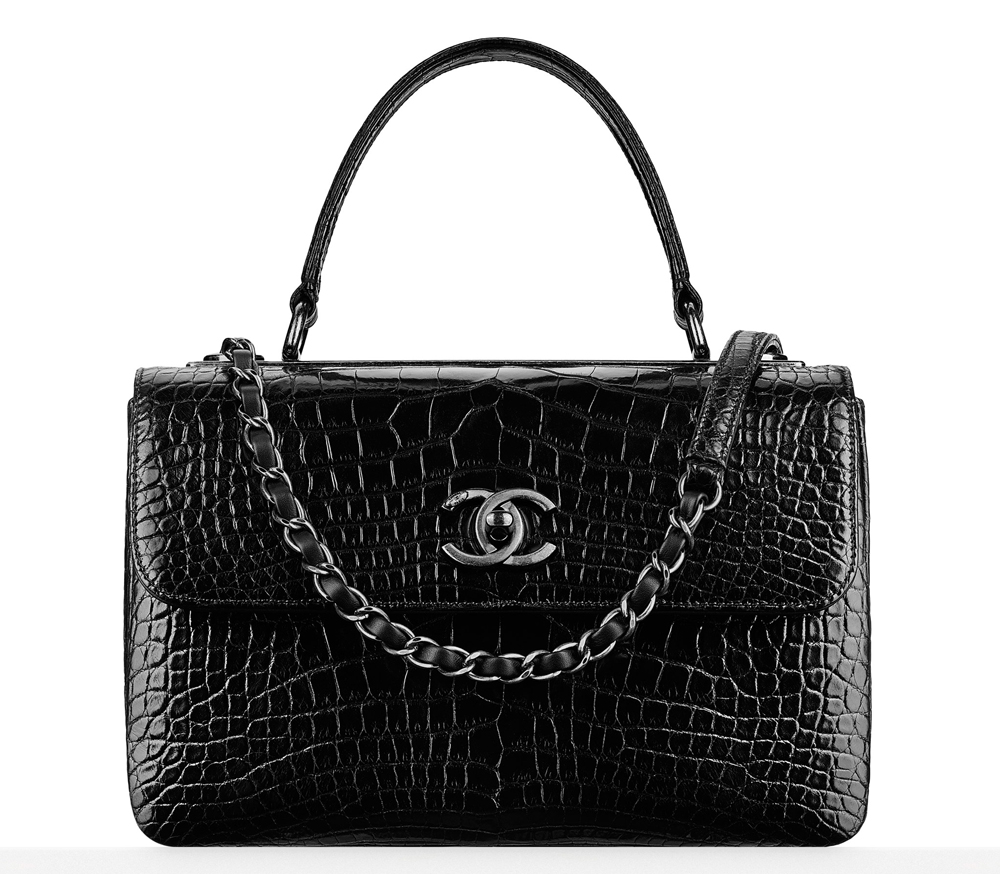 Chanel-Alligator-Flap-Top-Handle