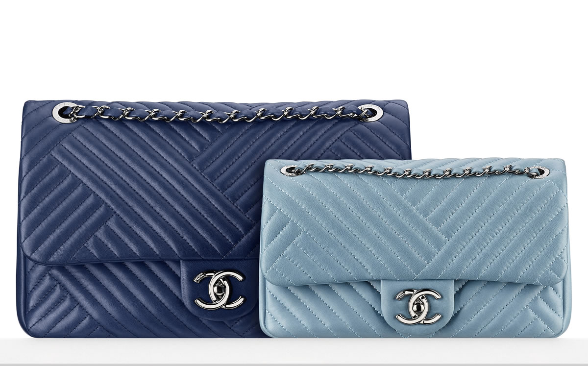 Chanel Blue Flap Bags