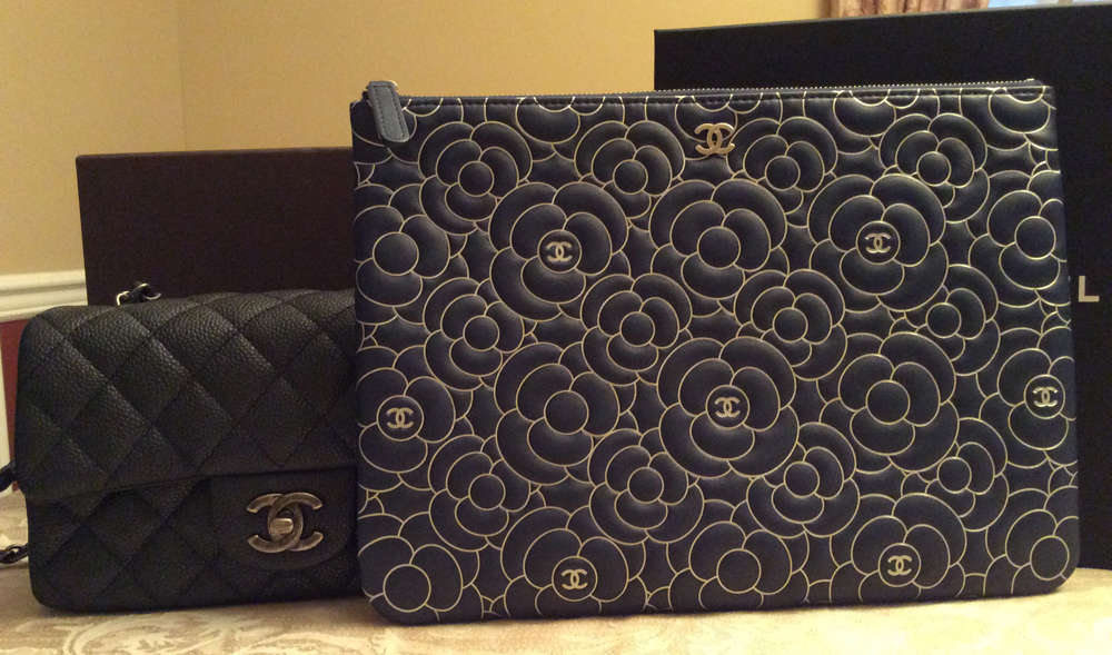 Chanel-Camellia-Pouch-and-Classic-Flap