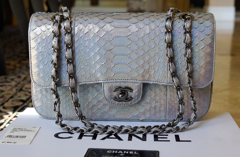 64565f8c5f6d Chanel-Python-Classic-Flap-Bag - PurseBlog